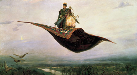 Viktor Vasnetsov. The Flying Carpet (1880). Image courtesy of Wikimedia.
