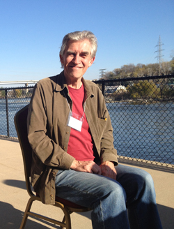 Me at the Startup Accelerator unconference next to the Fox River. Image courtesy of Brandon Wentland.