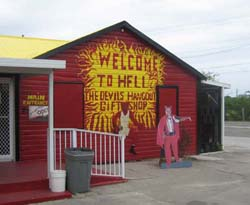 Hell has become way too touristy. There's even a gift shop now! Image courtesy of Max Schoenfeld via wikimedia.org