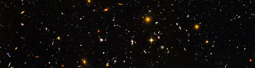 Incredible Coincidences - Two-Bit Guru - Hubble Deep Field Telescope Image of the Universe via Wikipedia and NASA