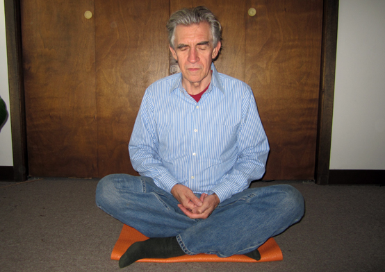 Two-bit Guru | Knowing is Not knowledge | Photo of Dave meditating