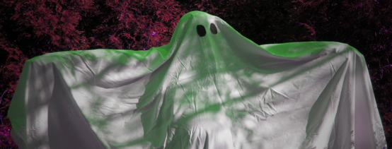 Two-bit Guru | Imaginary Ghosts | Person in a sheet dressed up as a ghost.