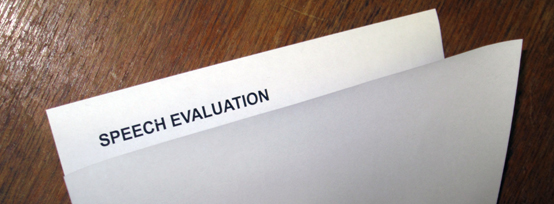 Two-bit Guru | Giving Inspiration | Photo showing a folded speech evaluation form.