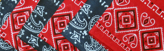 Two-bit Guru | Snot Blowing | Photo of red and blue handkerchiefs.