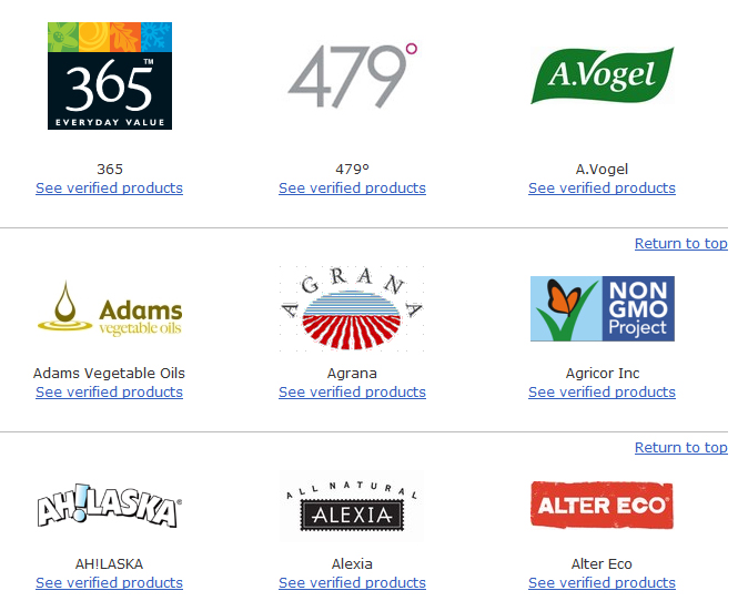Browse Products   Non GMO Project